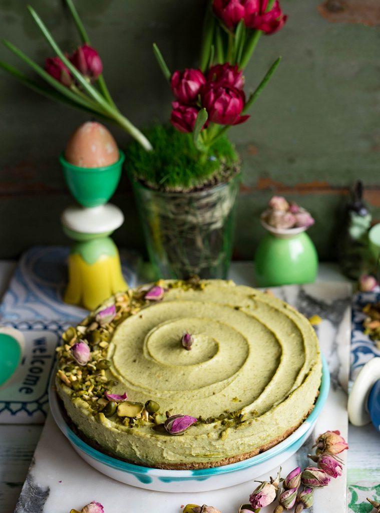 Pistazien-Cheesecake - Kühlschrankkuchen ohne Backen