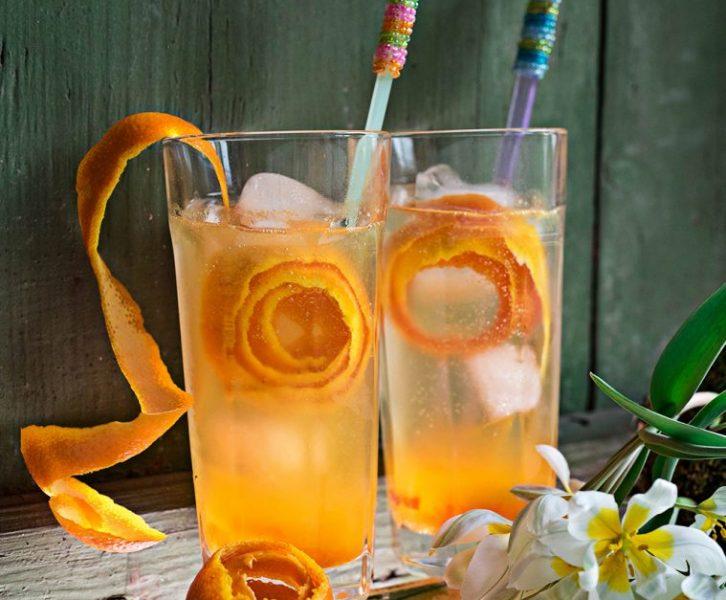 Triple Orange Gin & Tonic - Fruchtiger Cocktail mit Orangenmarmelade und frischem Orangensaft. Vitamine zur Gin o'Clock, oder wie fruchtig kann Gin sein #rezept #longdrink #cocktail #drink #gin #gintonic #orange