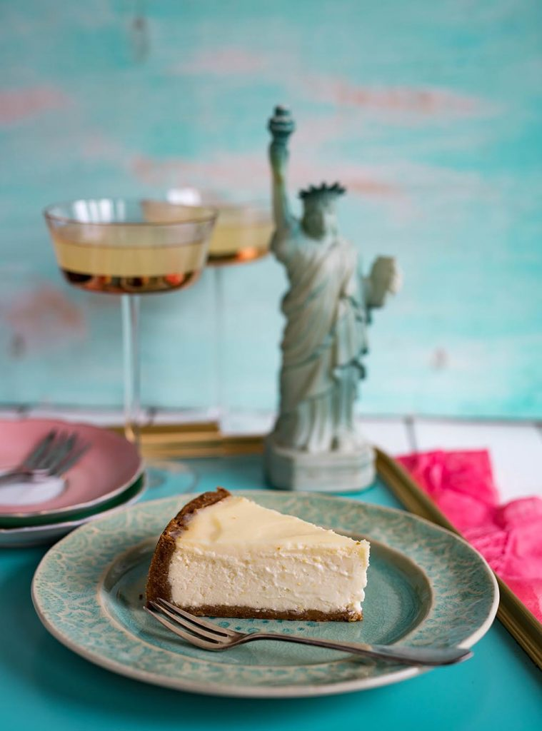 New York Cheesecake mit Rhabarber