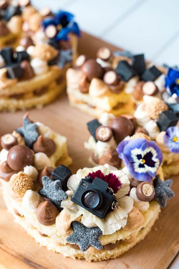 A Guy's Number Cake - Zahlenkuchen zum Geburtstag mit Nougat und Karamell