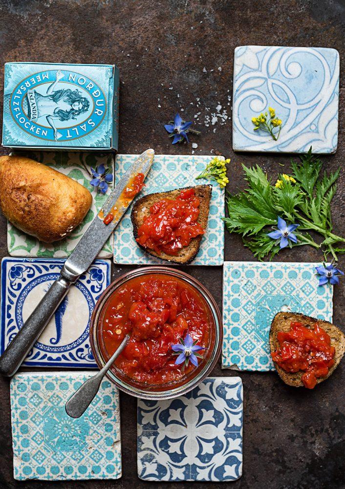 Paprika marmelade - Rezept mit und ohne Thermomix