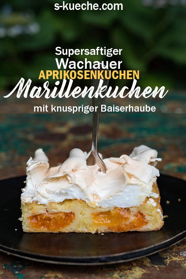 Wachauer Marillenkuchen mit knuspriger Baiserhaube - Die besten Aprikosen im saftigsten Blechkuchen aller Zeiten