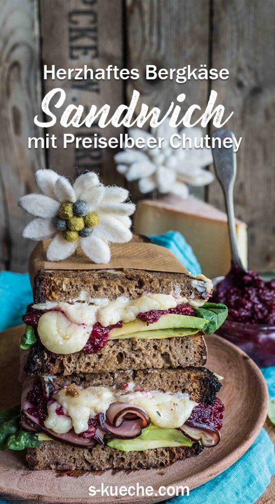 Herzhaftes Bergkäse Sandwich mit Preiselbeer Rote-Bete Chutney #sennermeetsblogger