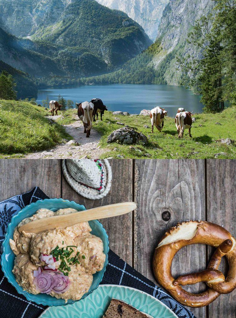 Roadtrip 2018 -Teil III -Königsee, Obersee und Fischunkelalm - Obazda - der köstliche bayrische Brotaufstrich mit Camembert