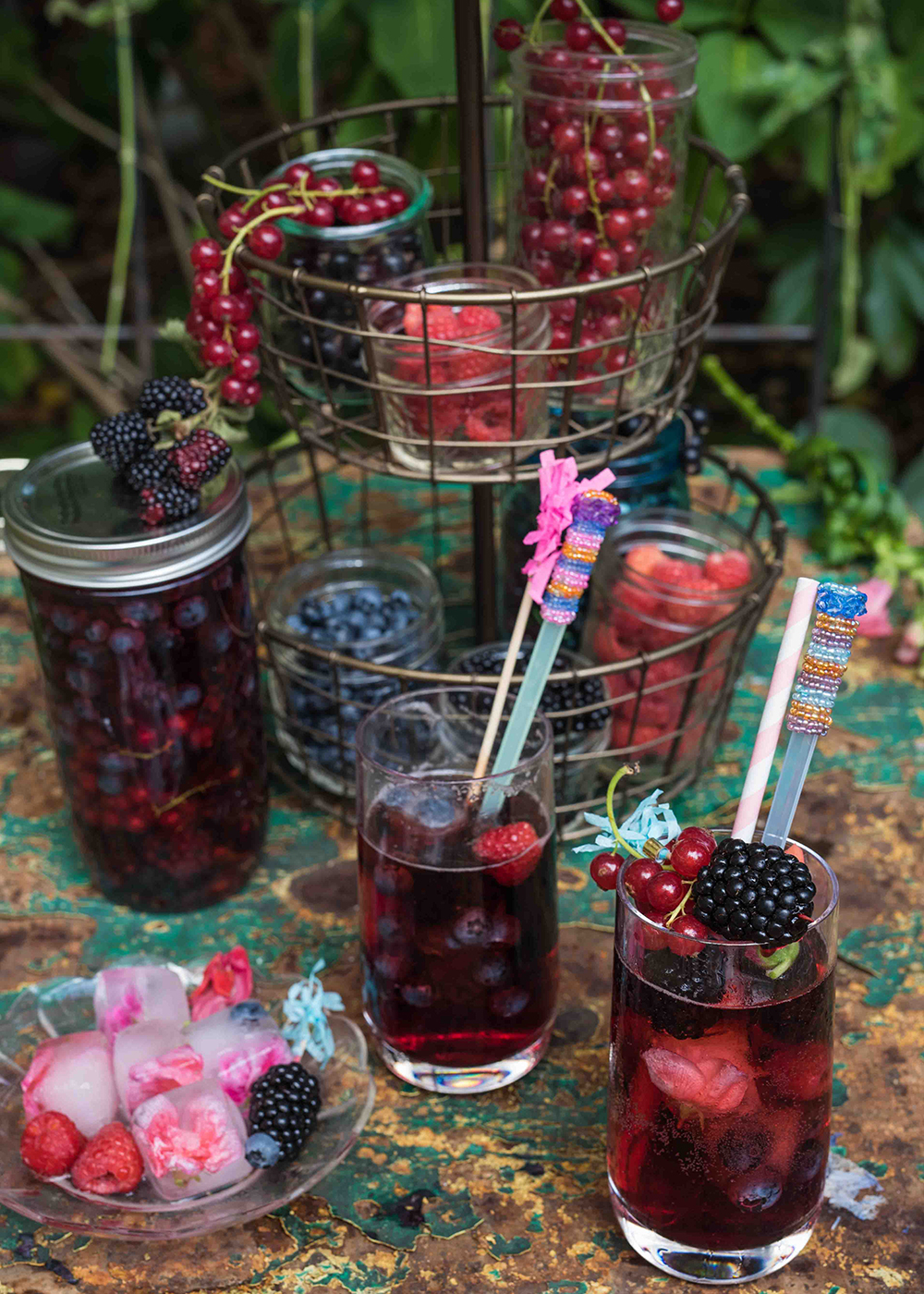 Beeren Shrub und Switchel