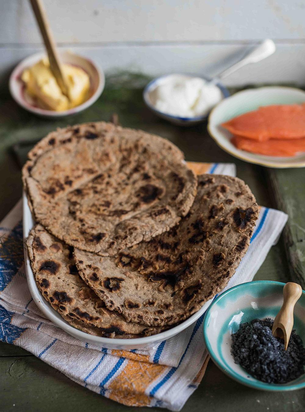 Traditionelles Roggen Flatbread aus Island - Flatbrauð
