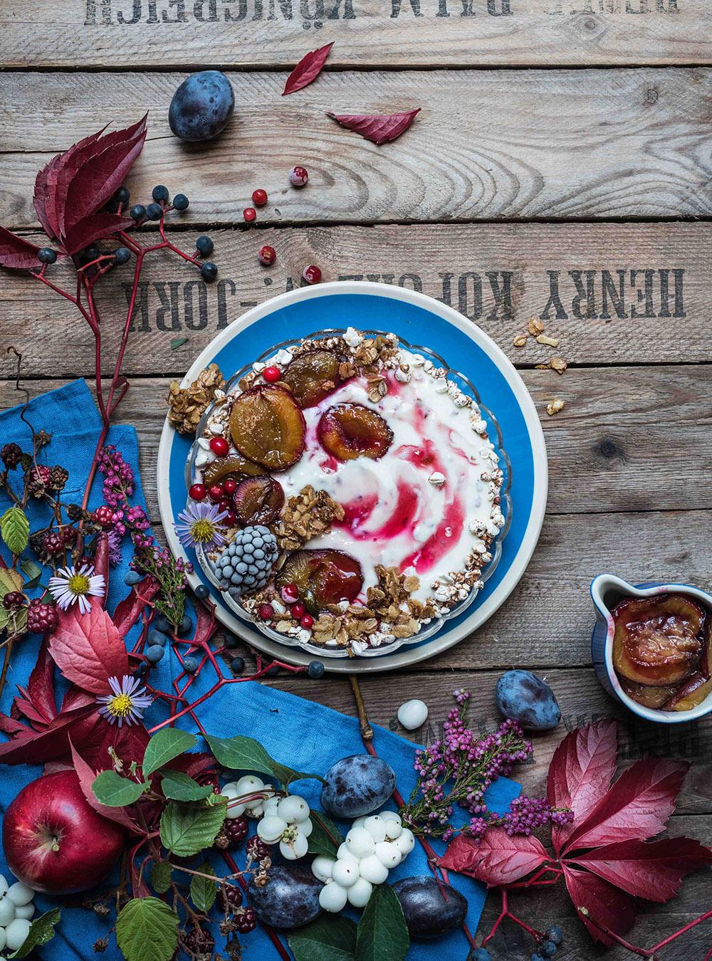 Von der Kuh auf den Tisch - weil Bio nicht gleich bio ist - Herbstliches regionales Joghurt Frühstück