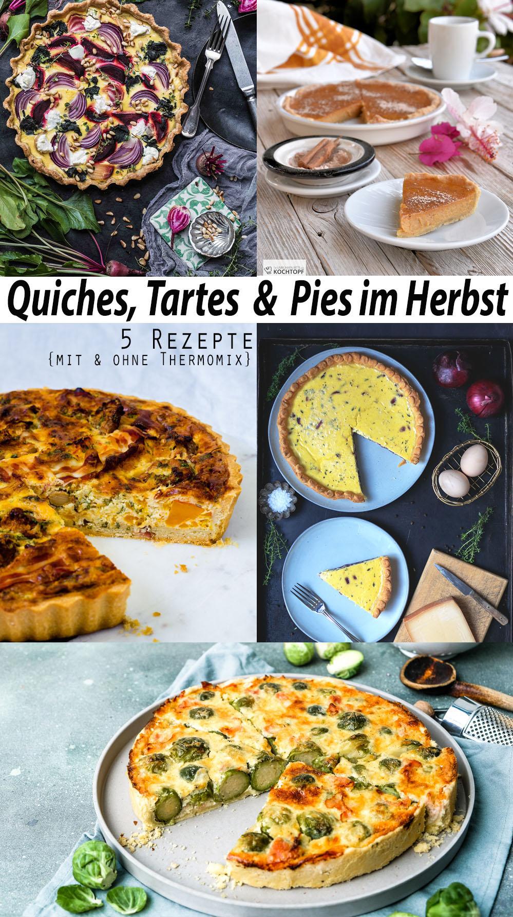 Quiches, Tartes, Pies im Herbst