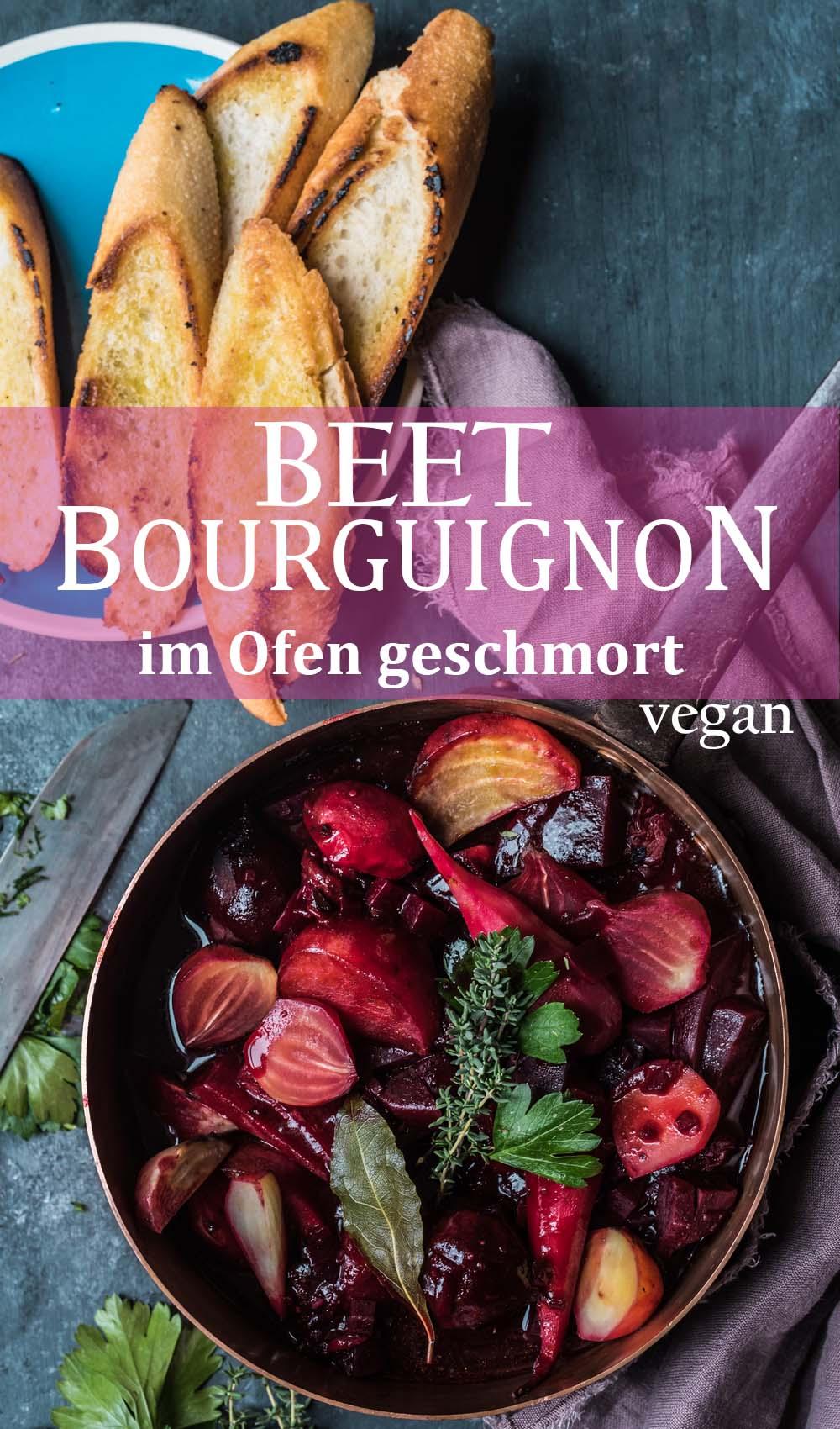 Beet Bourguignon - Rote Bete Schmortopf