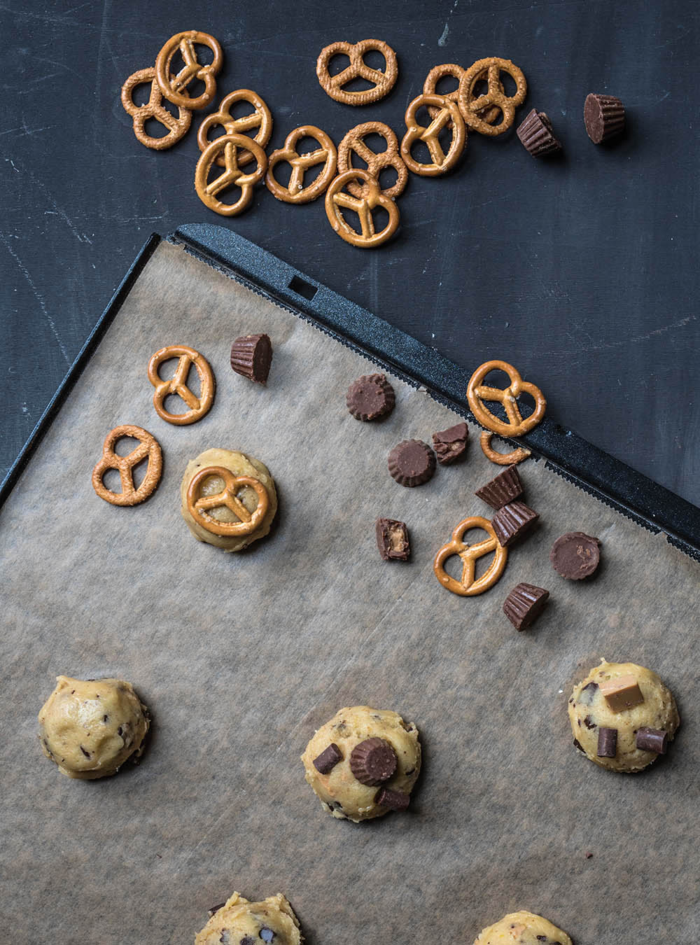 Brown Butter Salted Everything Chocolate Chip Cookies