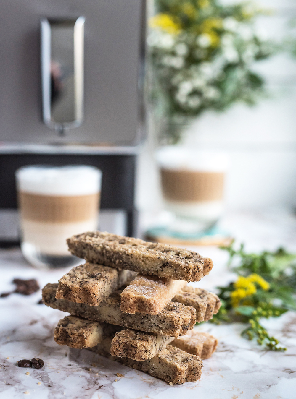 Coffee & Vanilla Shortbread Fingers