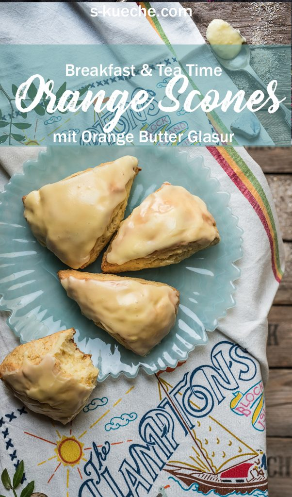 Orange Scones mit Butter-Orange-Glaze