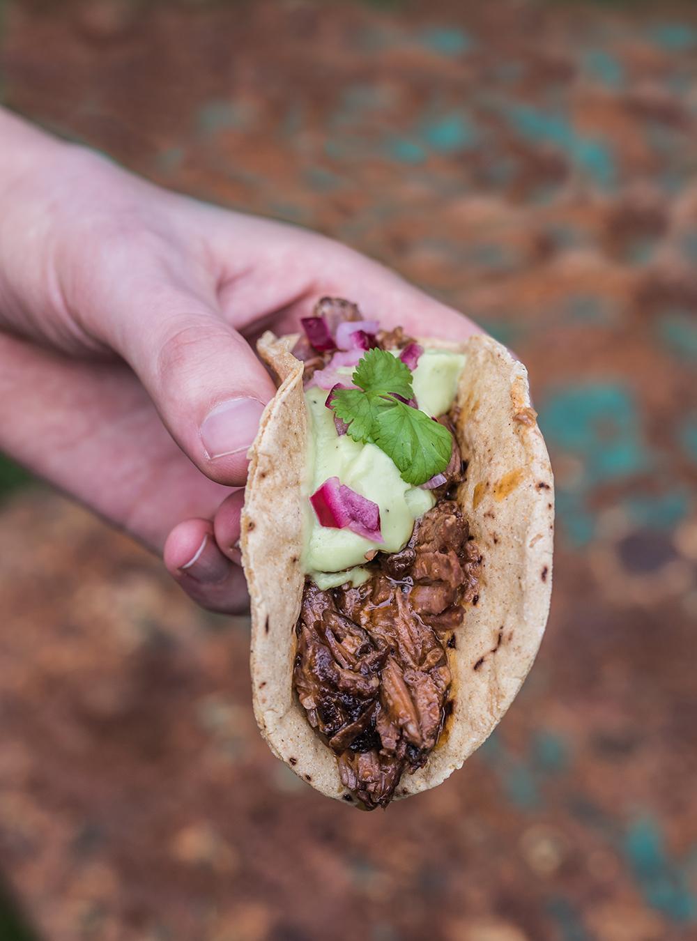 Barbacoa Style Beef Tacos - Langsam geschmortes mexikanisches Rindfleisch