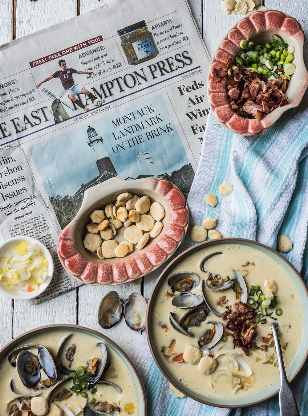 New England Clam Chowder - Fantastische Muschel Kartoffelsuppe