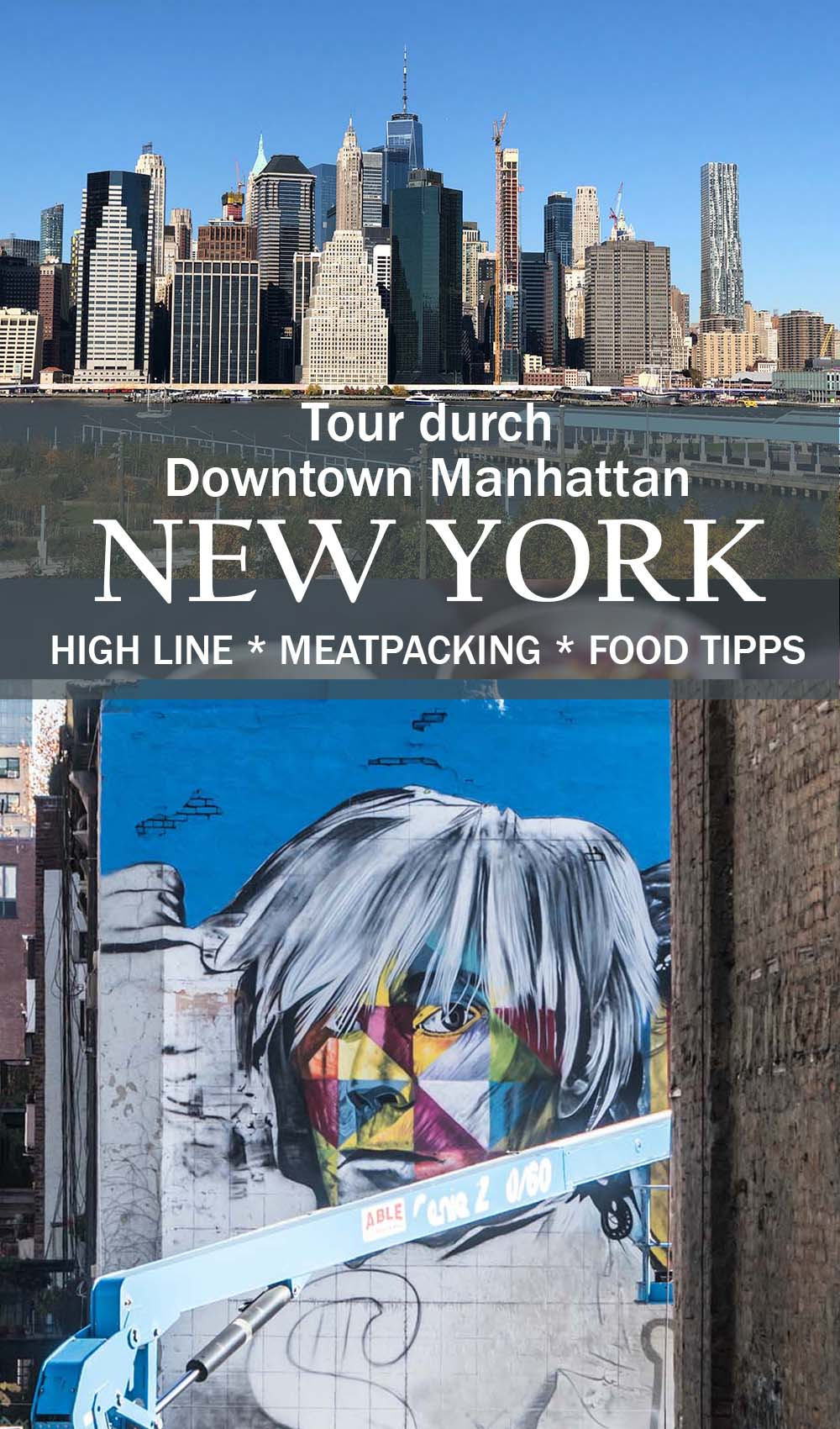 New York - Tour durch Downtown Manhattan + High Line Park und Brooklyn Bridge mit vielen Food Tipps