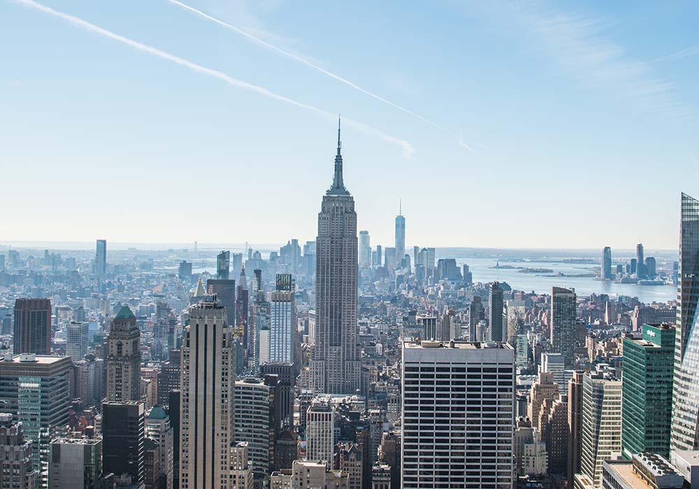 Rockefeller Center Blick auf Manhattan