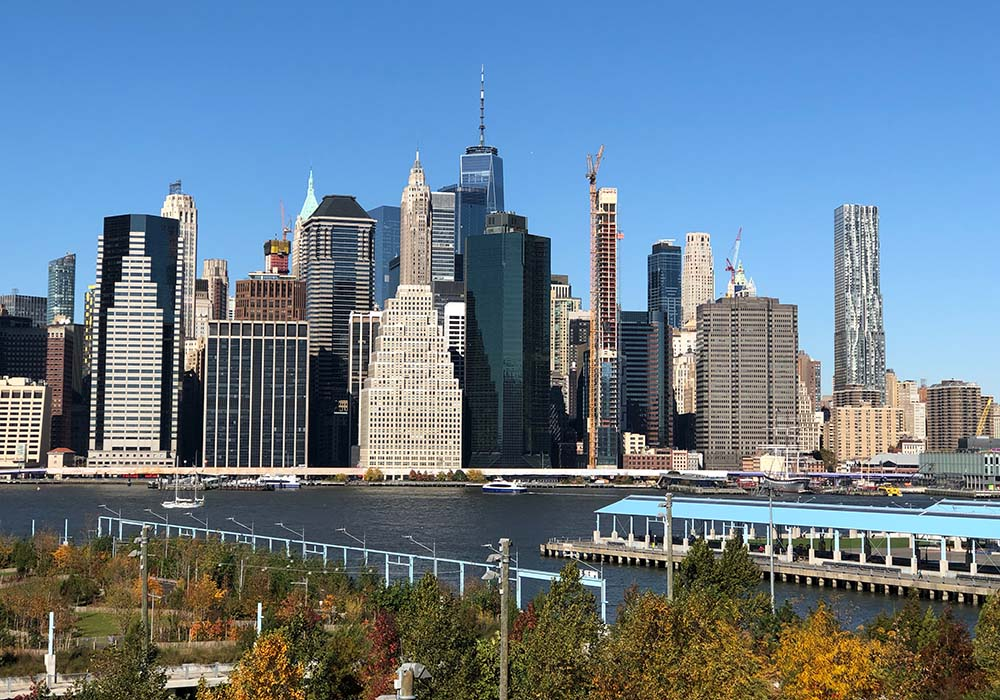 Skyline manhattan von brooklyn aus