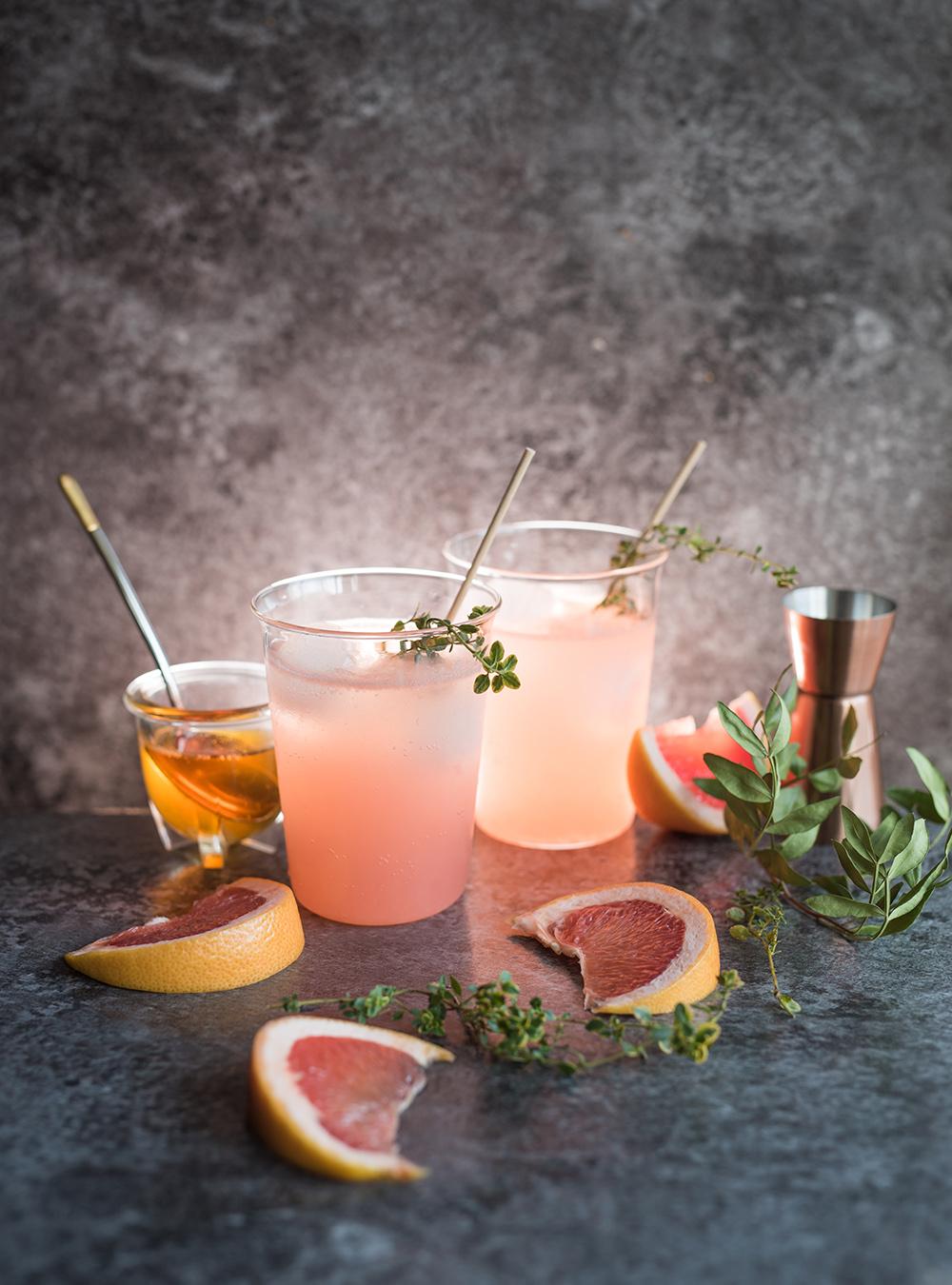 Grapefruit Honey Gin Tonic