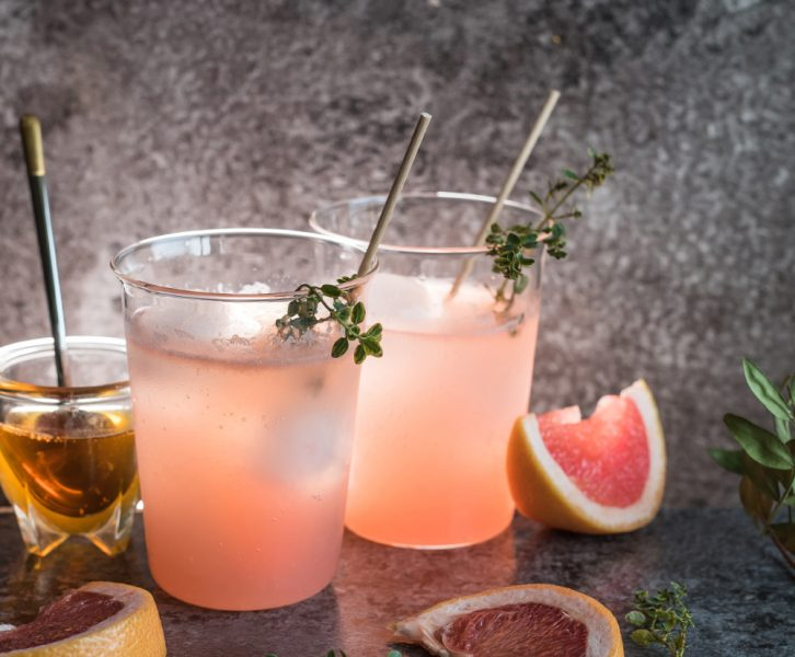Grapefruit Honey Gin Tonic