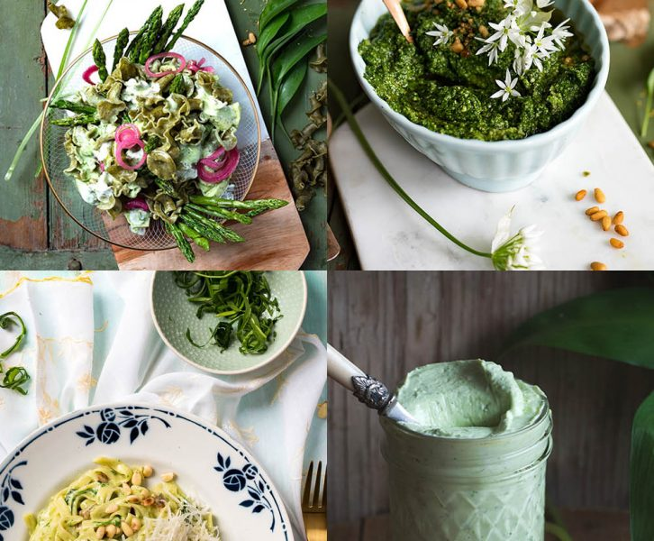 Meine 9 besten Bärlauch Rezepte -Pasta, Pesto, Salat, Schnecken, Risotto, Sandwich frisch wie der Frühling