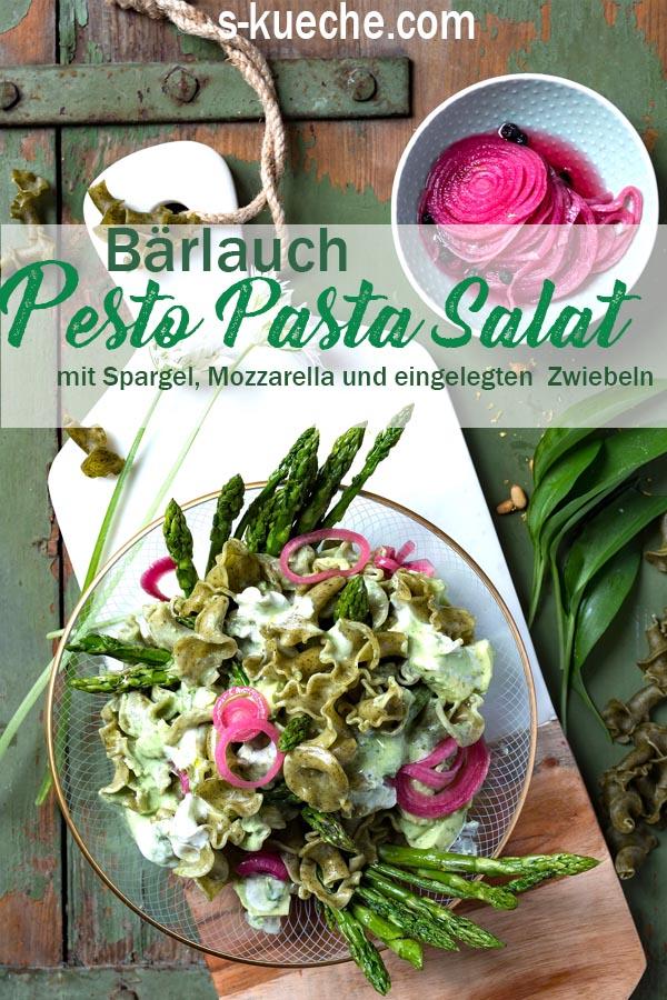 Rezept für Pesto Pasta Salat mit Bärlauch