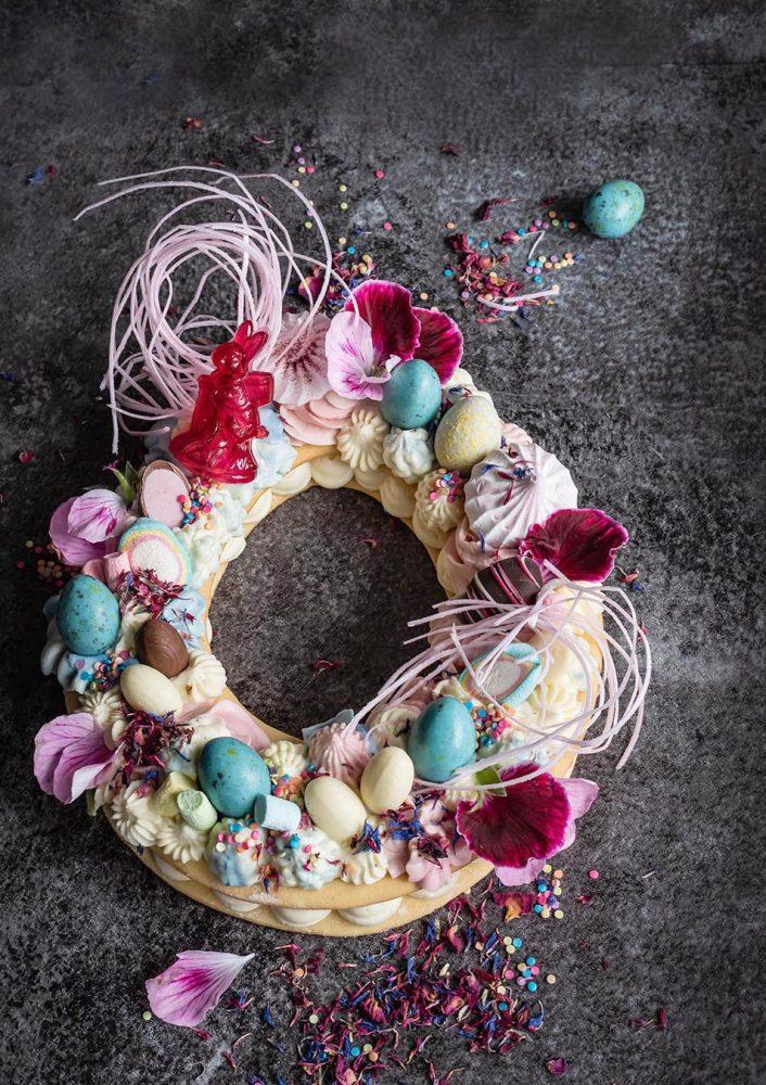 Frühlings Cream Cake - mein Number Letter Cake in der Oster- und Ganzjahres-Version