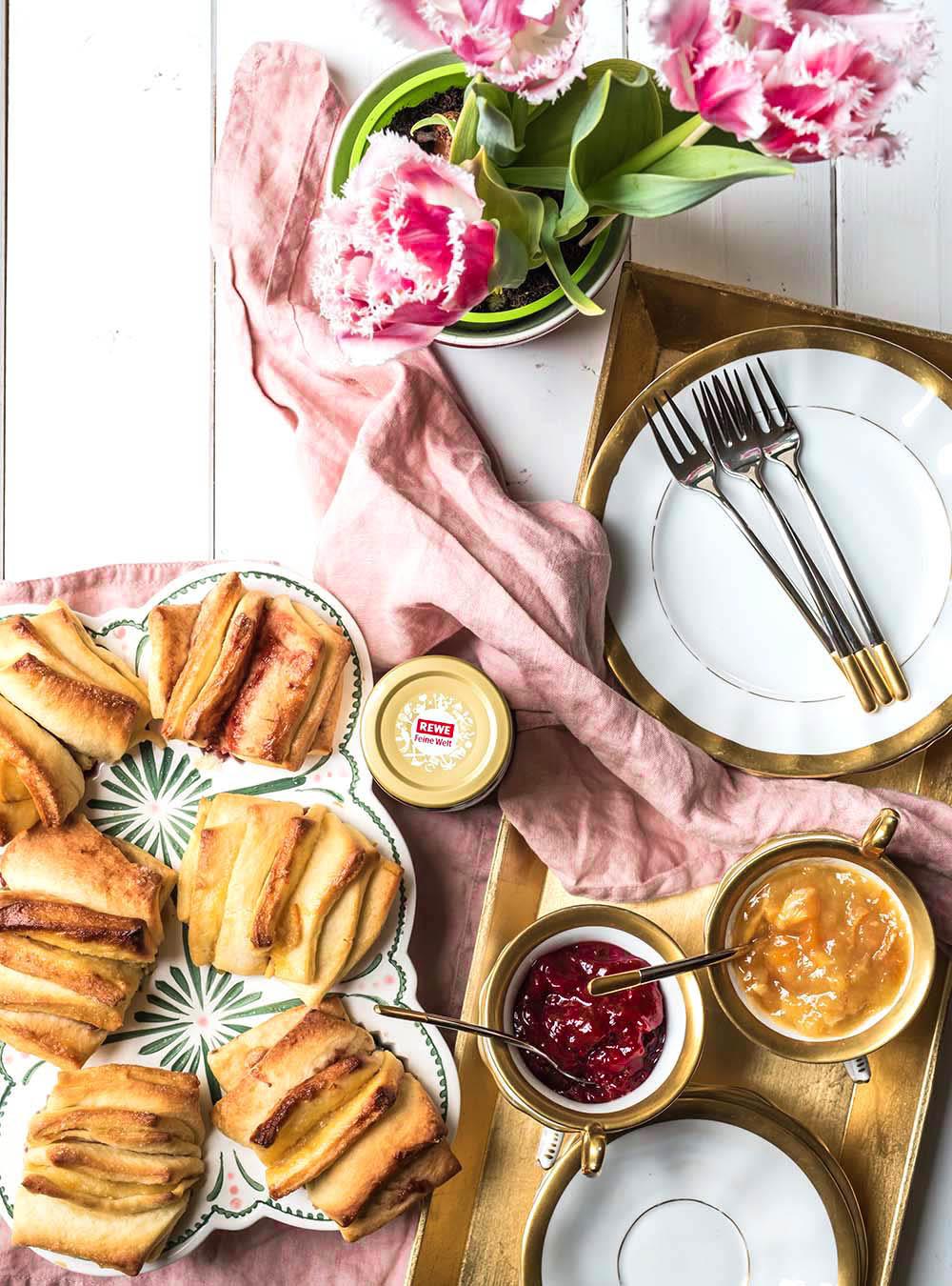 Schnelle und fruchtig-fluffige Zupf-Muffins im Fächer-Look