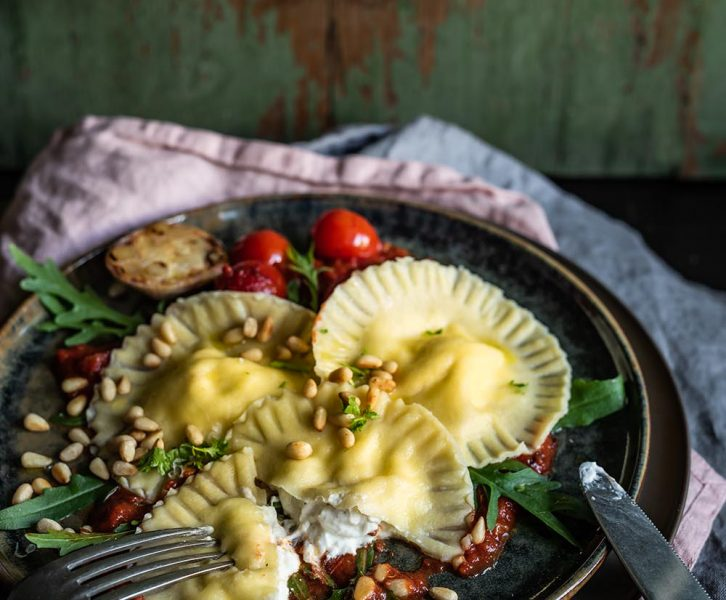 Ravioli alla Burrata ganz einfach selbstgemacht