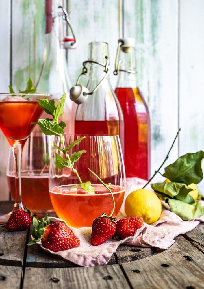 Strawberry Limes - Erdbeer Limes, der schnell selbstgemachte Likör