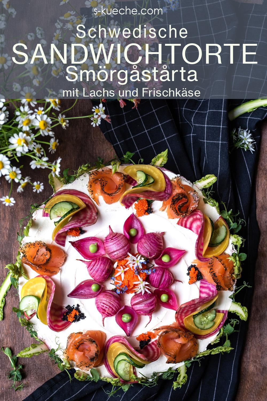 Midsommar Smörgåstårta – Schwedische Mittsommer Sandwichtorte
