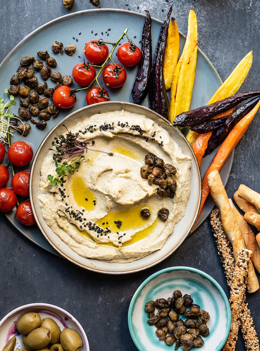 Artischocken Hummus mit weißen Bohnen