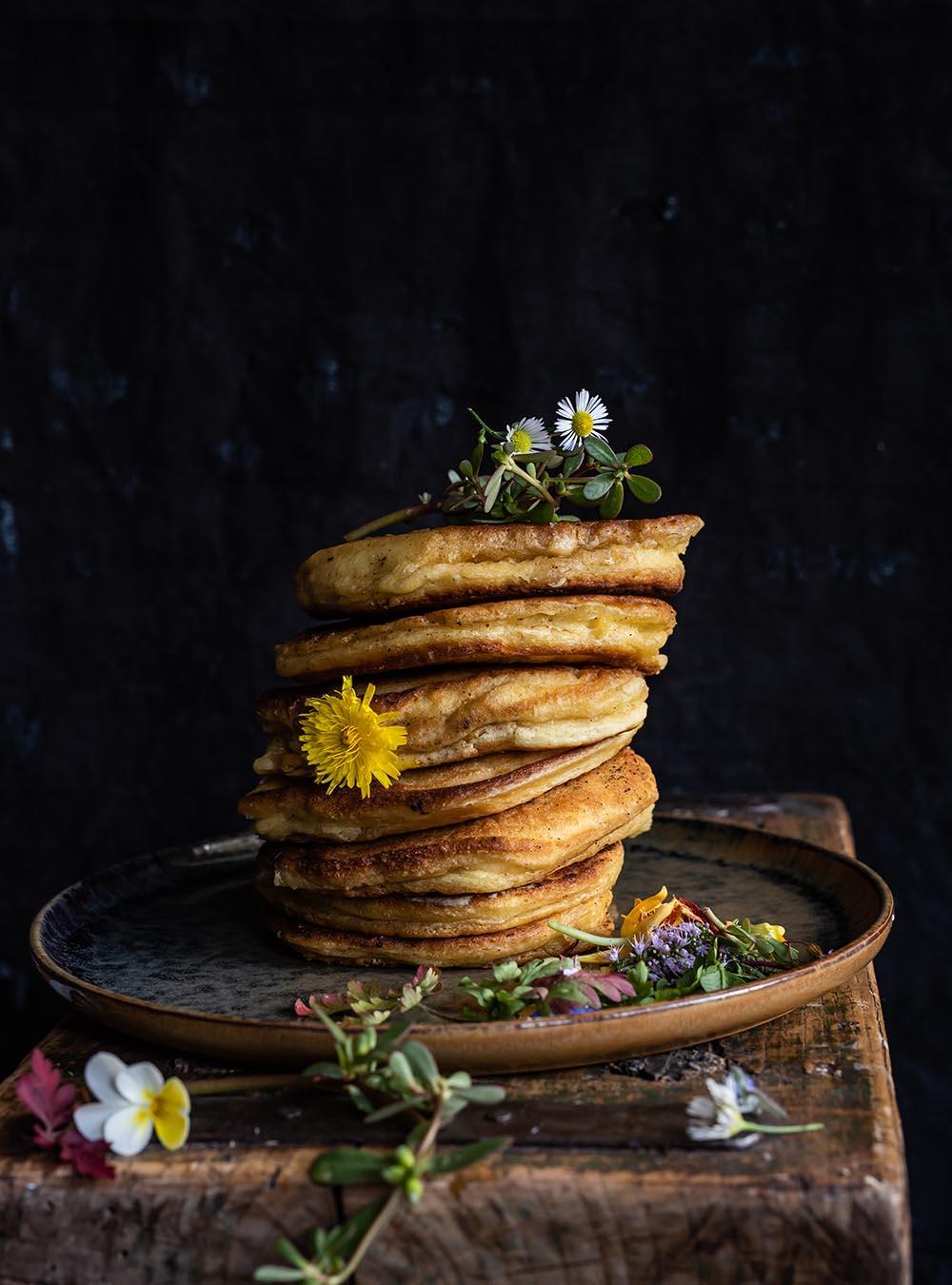 Buttermilch Pancakes - Rezept für die fluffigsten und dicksten Pancakes