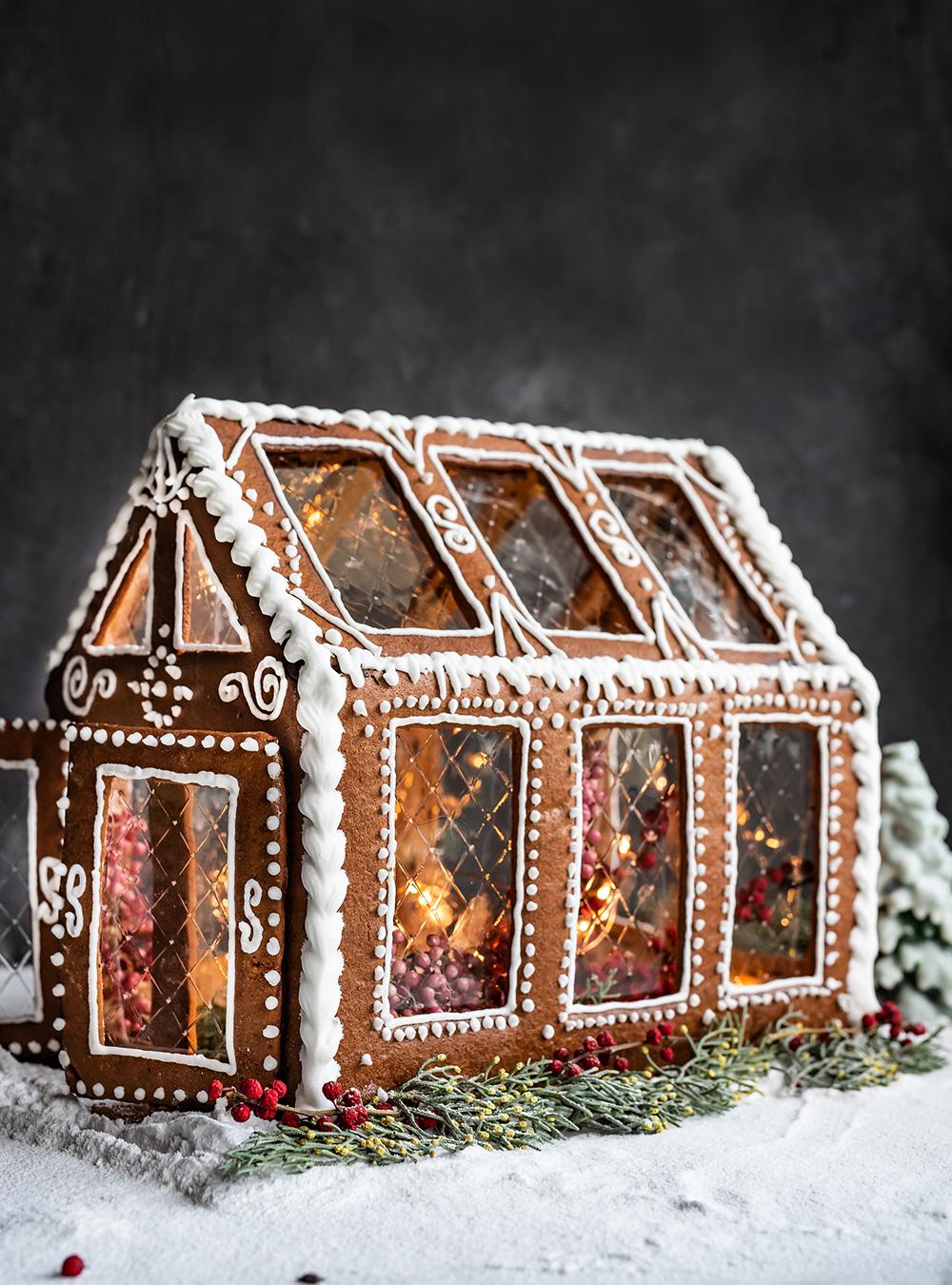 Lebkuchen Glashaus - Lebkuchenhaus zum Naschen oder als Deko