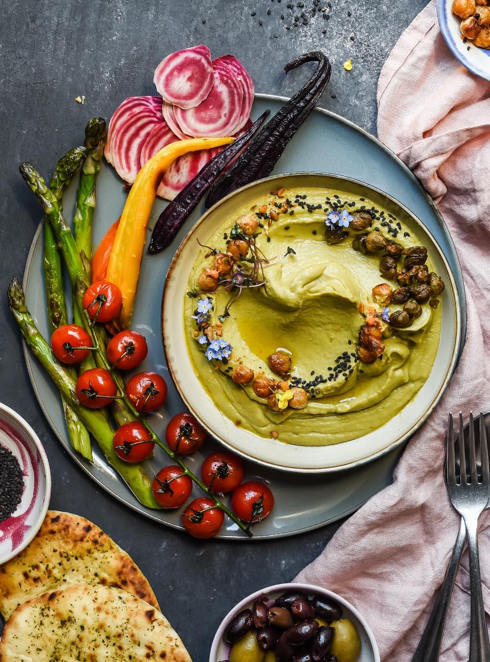 Erbse Miso Hummus