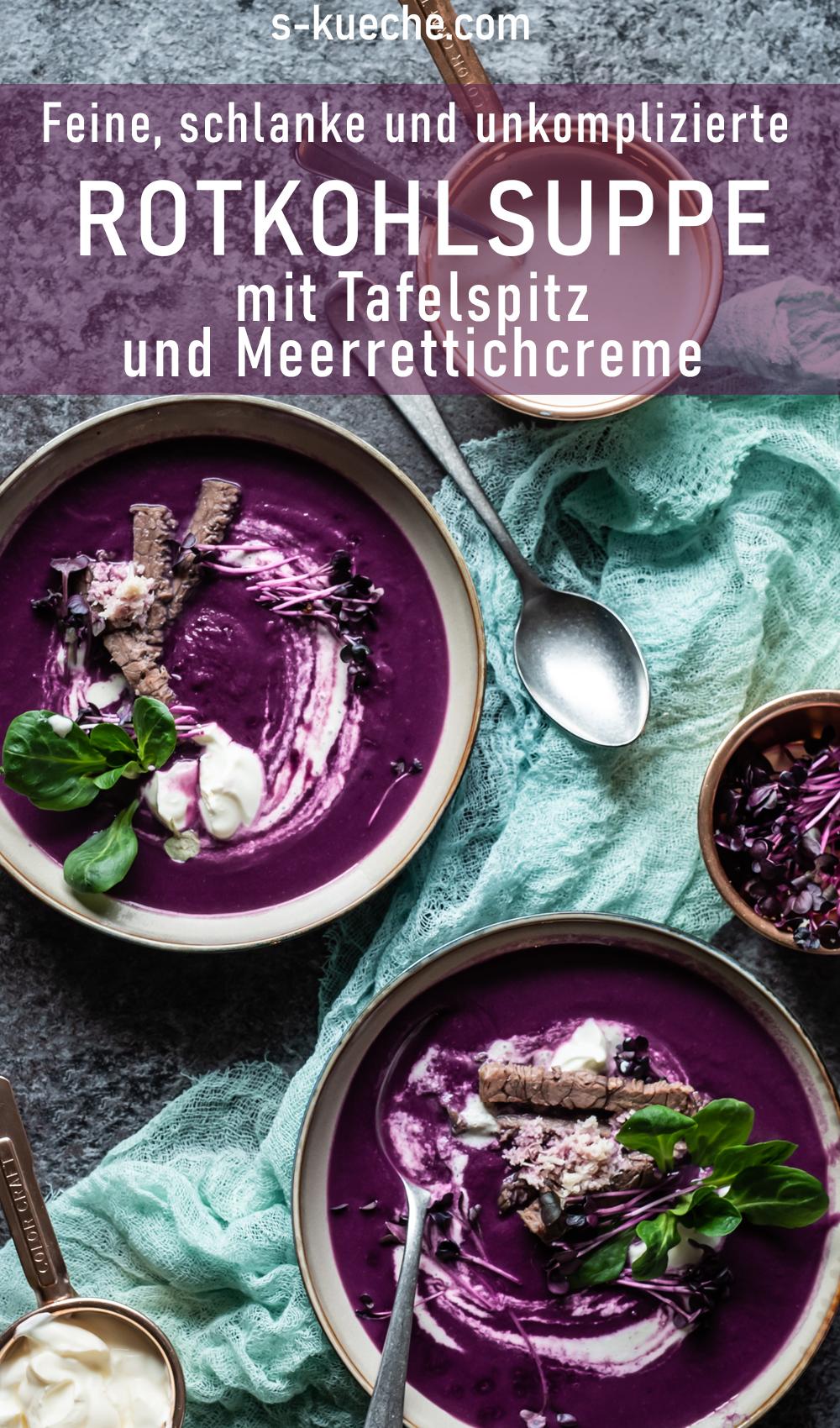 Rotkohlsuppe mit Tafelspitz und Meerrettich