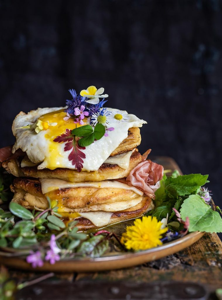 Bergkäse Pancake Stapel