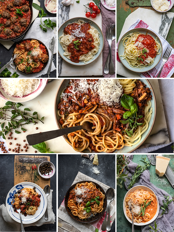 Spaghettigerichte