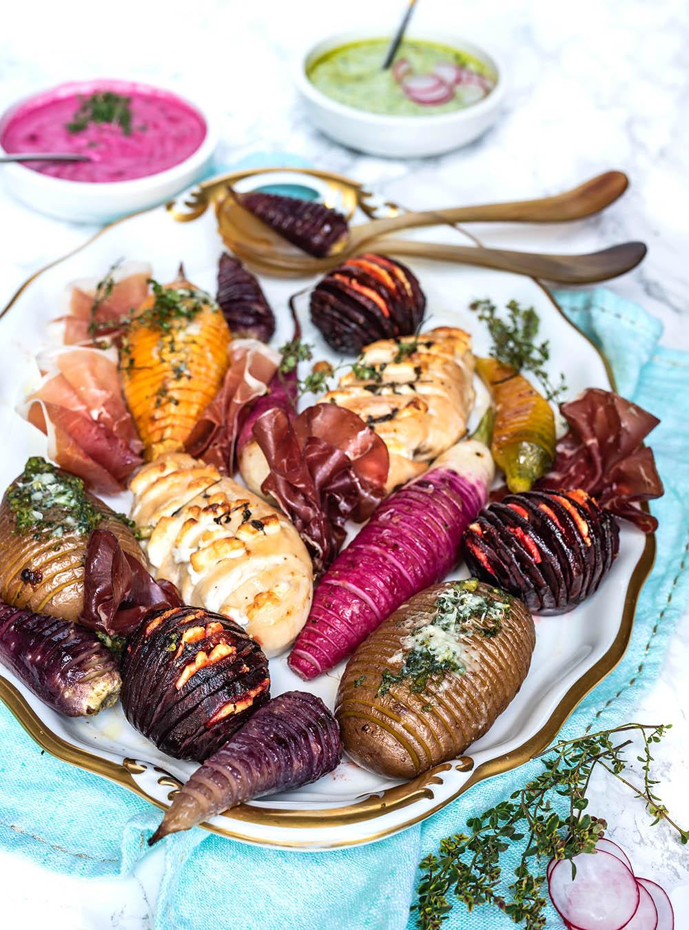 Best of Ostern - Hasselback-Blechgericht