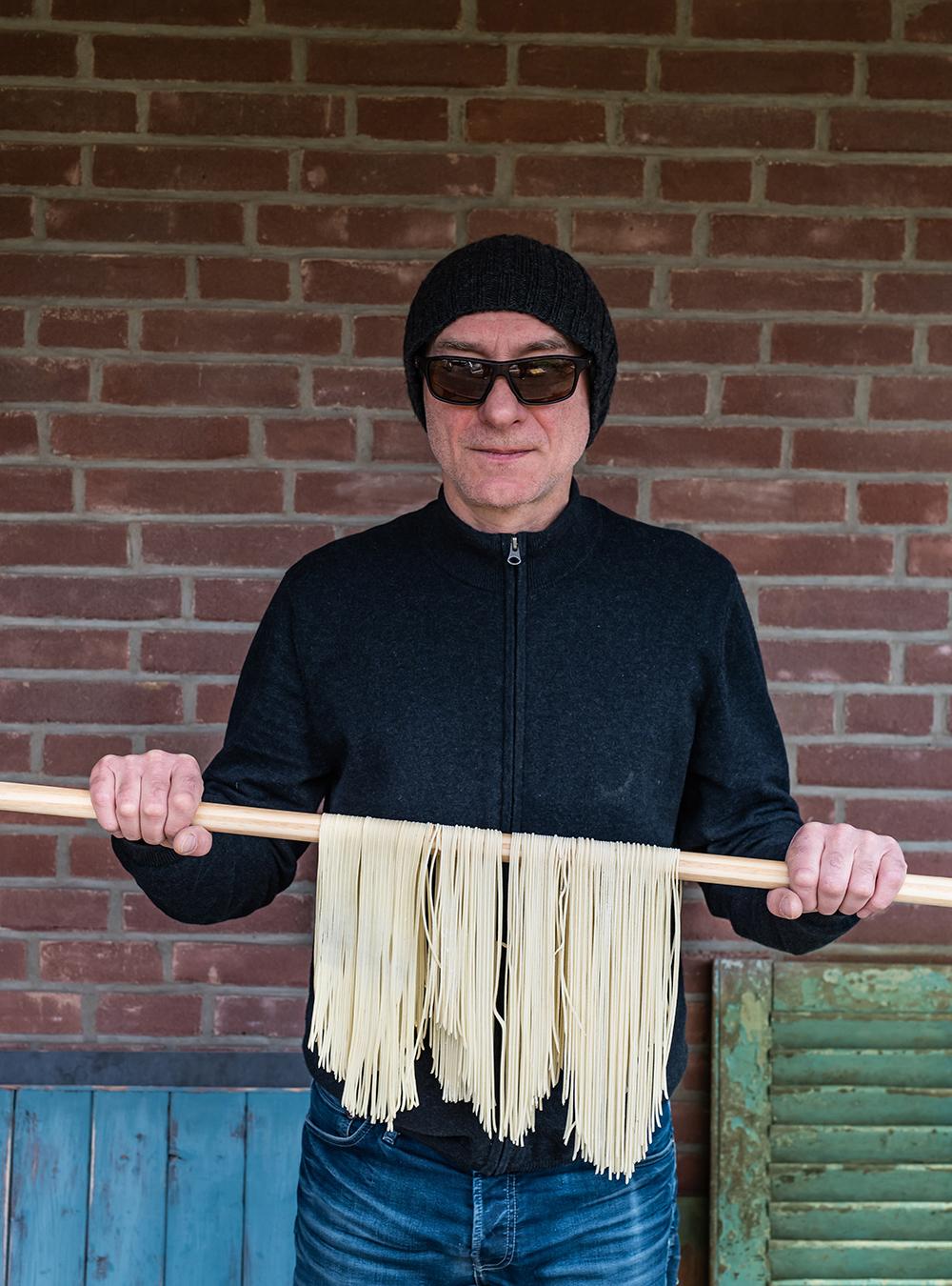 Selbstgemachte Spaghetti mit Italiener