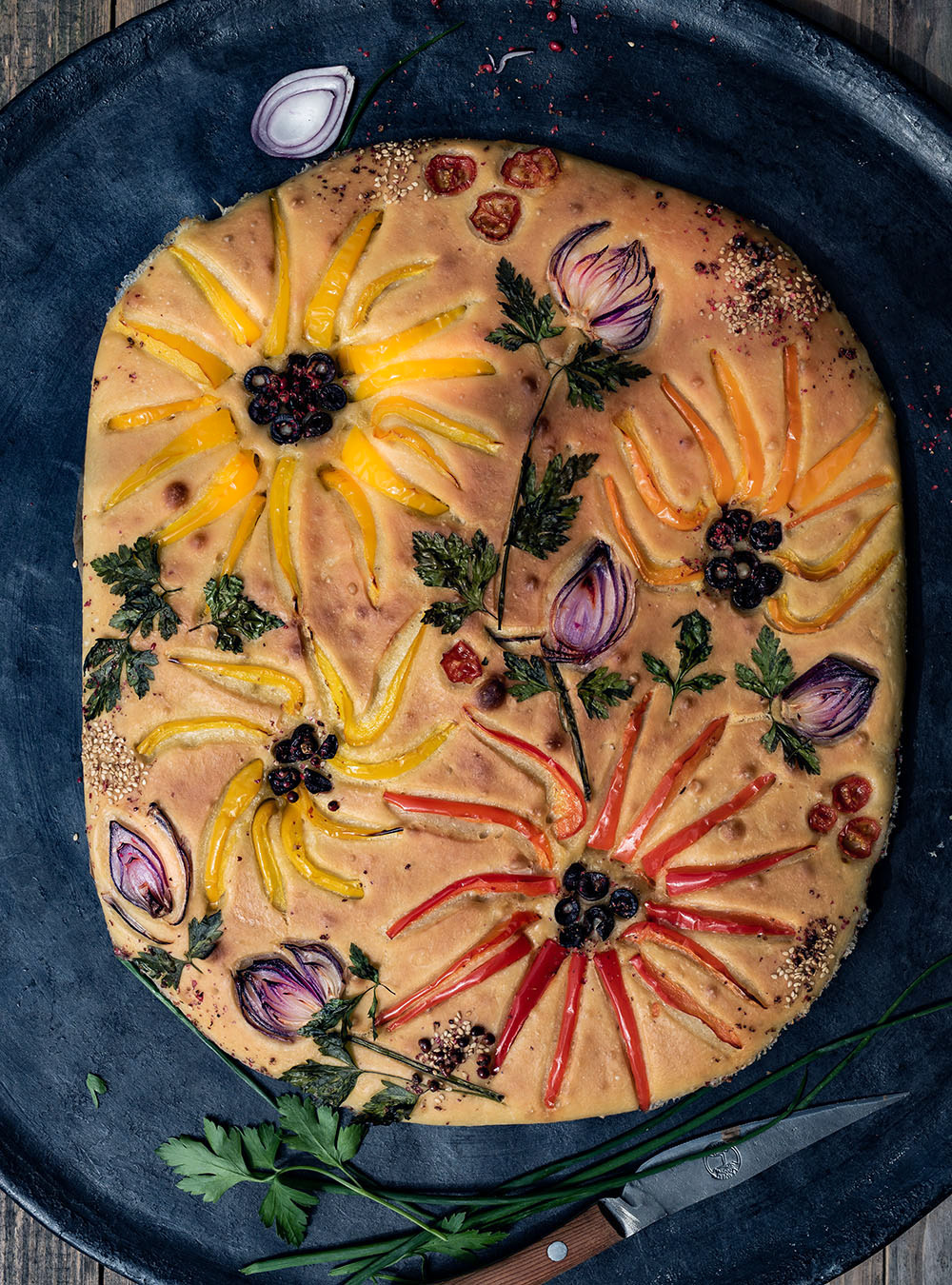 Focaccia Garden - der Blumen Brot-Trend 2020,