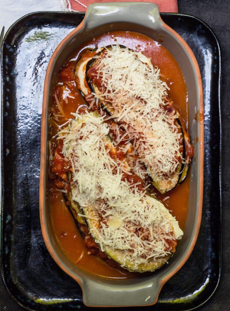 Parmigiana di Melanzane - italienischer Auberginenauflauf