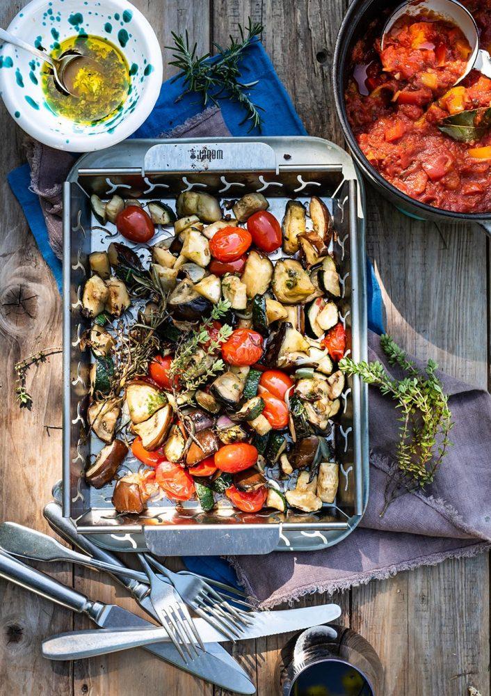 BBQ Ratatouille - vegetarisch vom Grill wie in der Provence