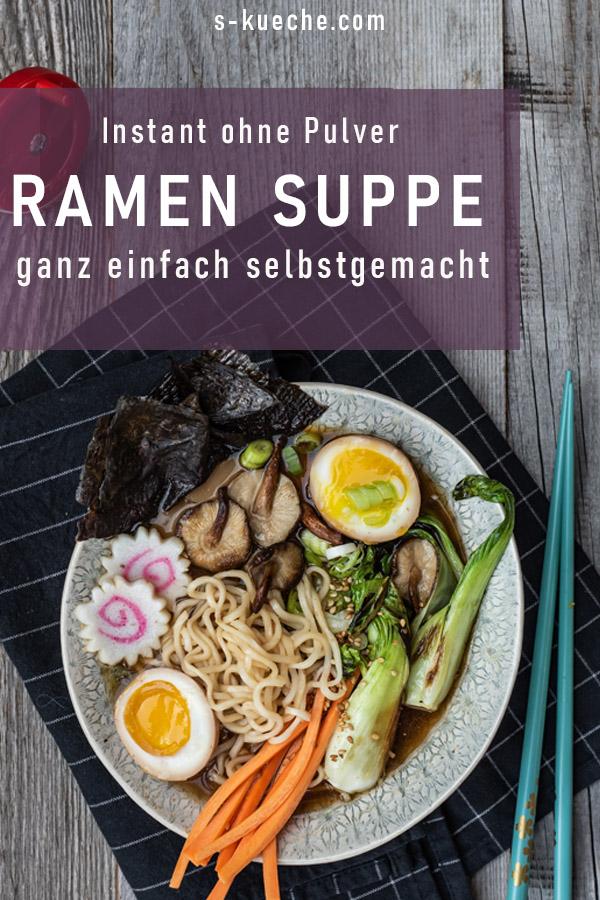 Instant Ramen Suppe Homemade mit viel Umami