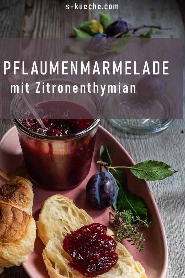Pflaumenmarmelade mit Zitronenthymian