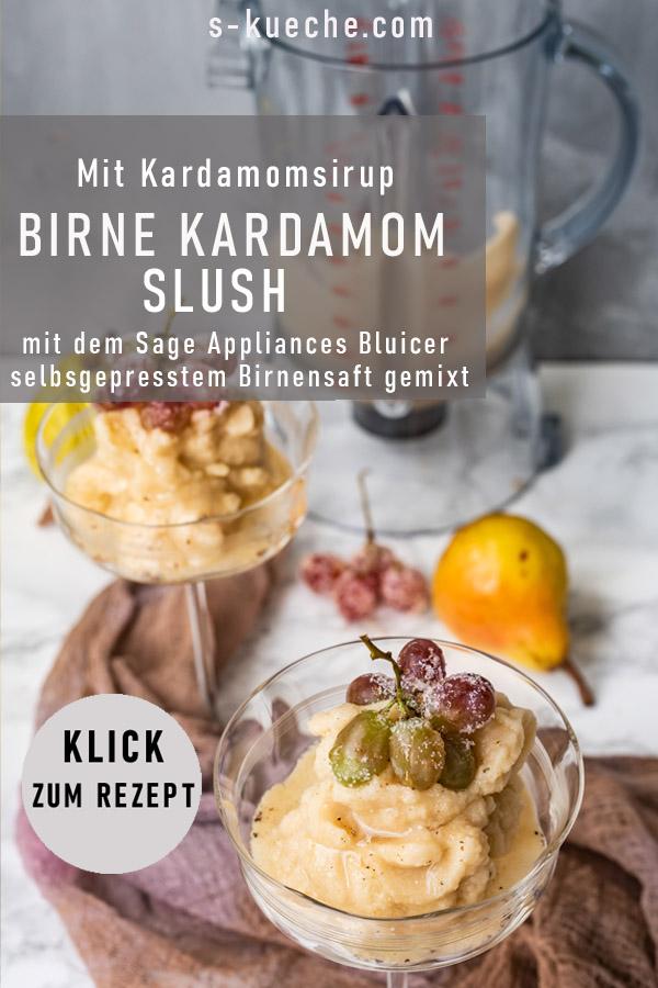 2 erfrischend gesunde Birnen-Kardamom Desserts - Smoothie und Slush mit dem 3X Bluicer