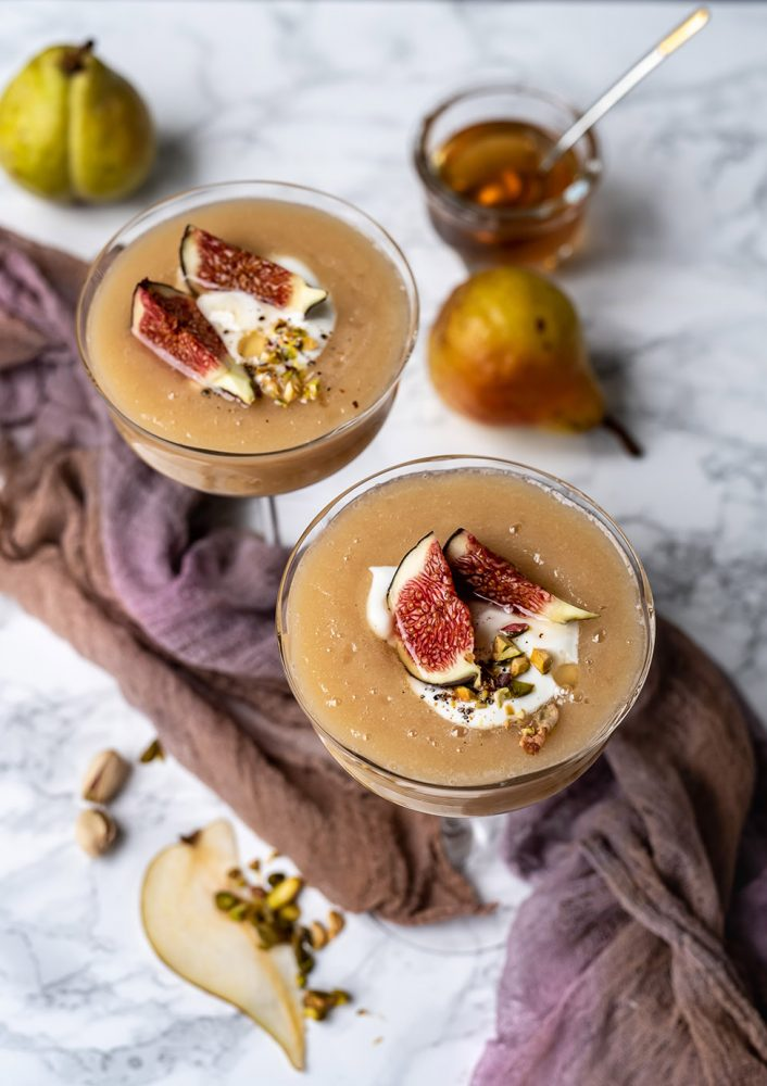 Birnen-Kardamom Dessert-Smoothie
