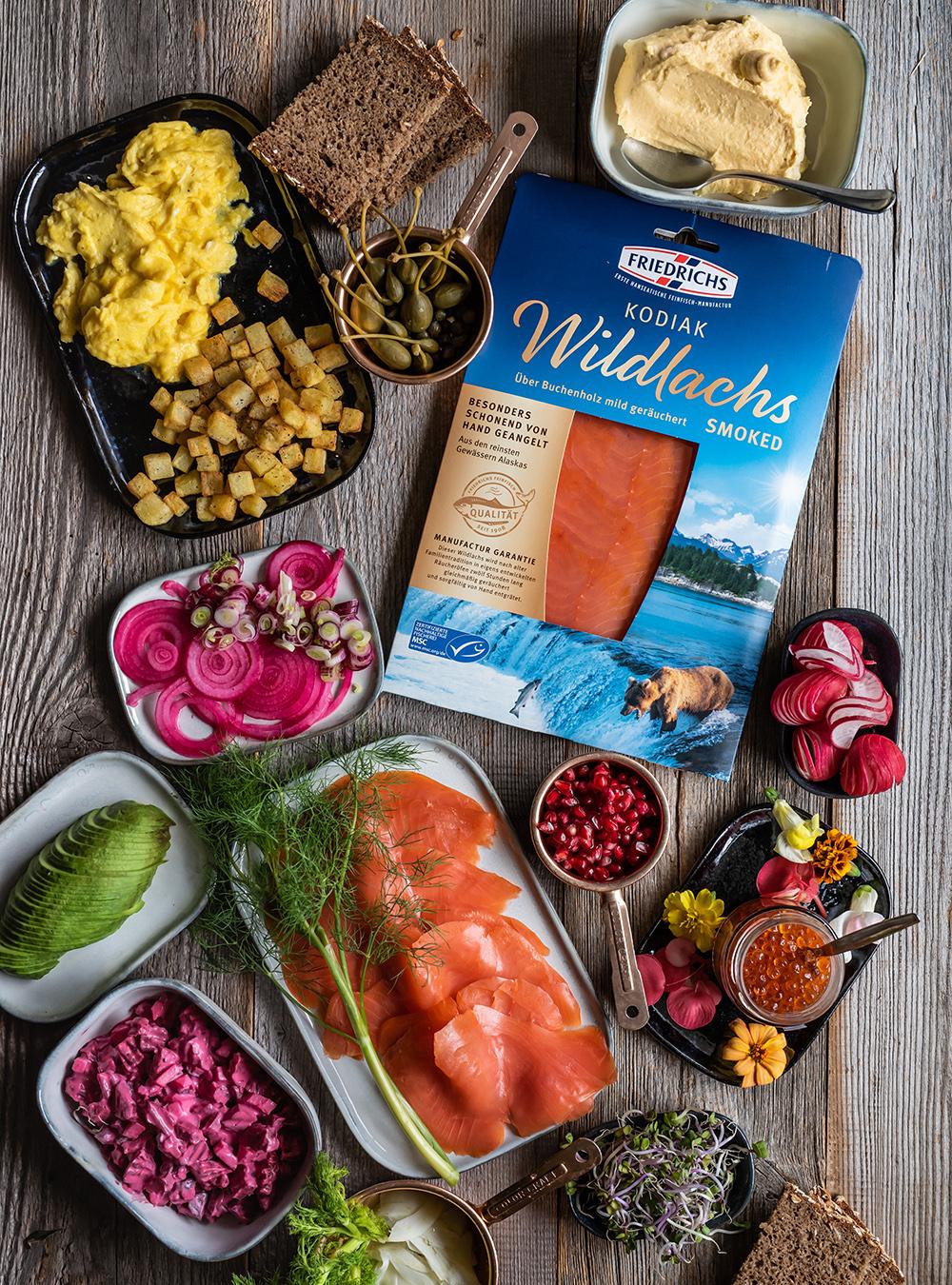 Smørrebrød Variationen mit Wildlachs