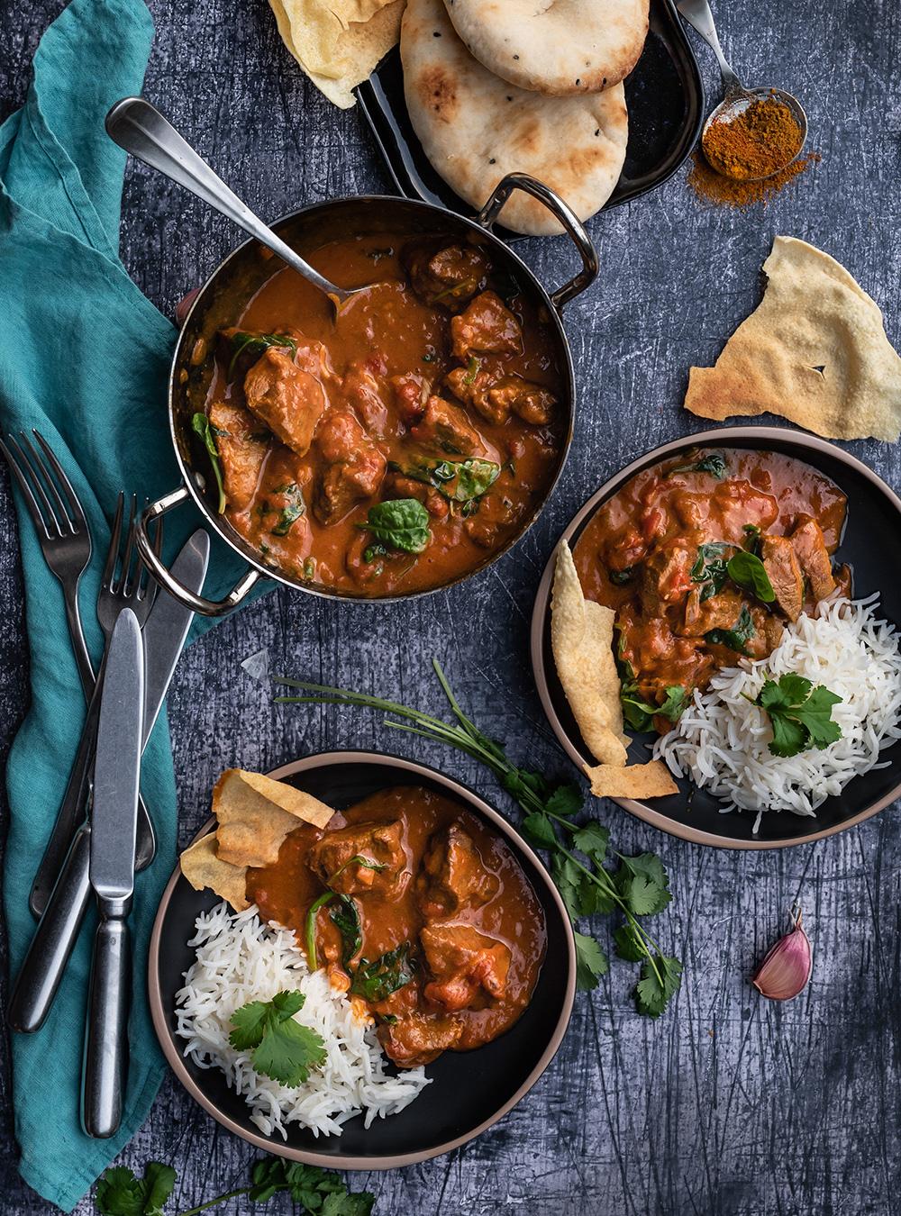Indisches Lamm Curry - so einfach gelingt dieser gute Schmortopf aus Indien