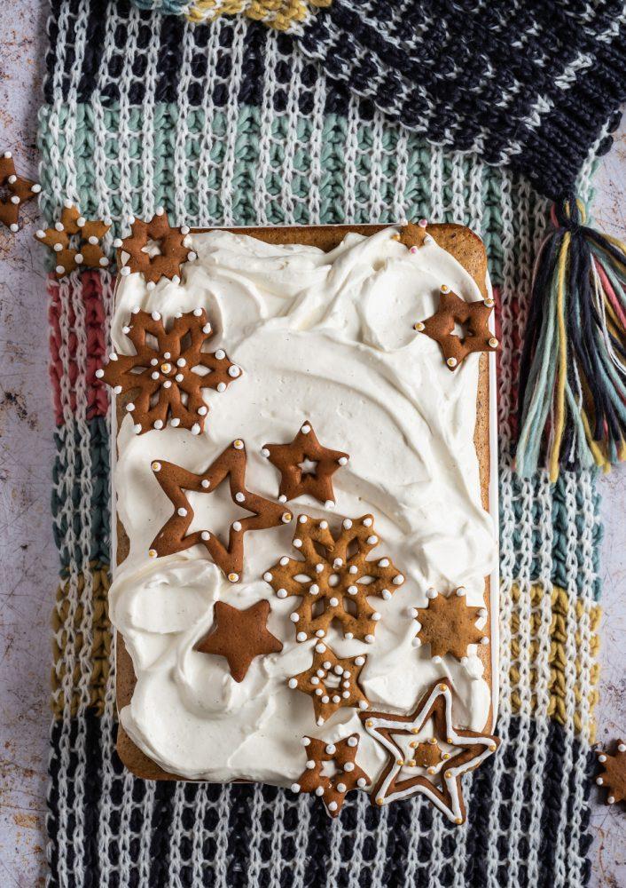 Ruck Zuck Lebkuchen-Kuchen Rezept für fluffigen Gewürzkuchen vom Blech