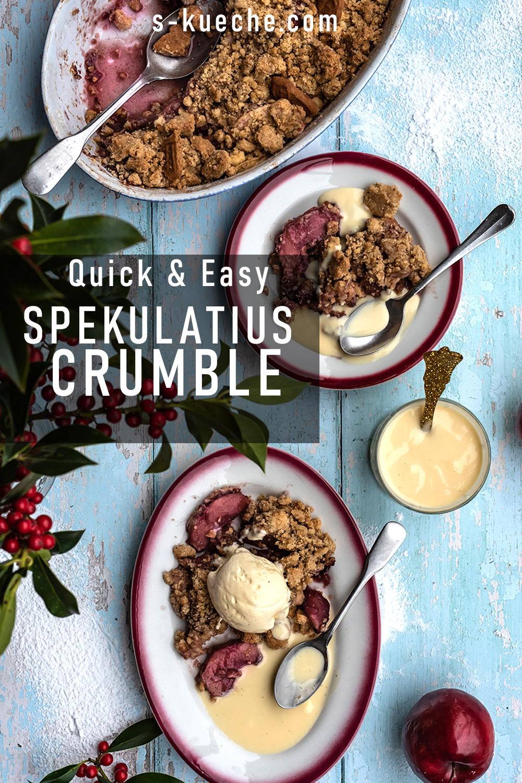 Quick & Easy Spekulatius Crumble